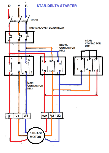 what are the components required for the star delta wiring ... remote car starter circuit diagram l t dol starter circuit diagram #8