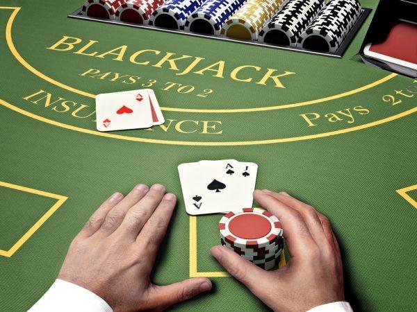Blackjack dealer stands on 16