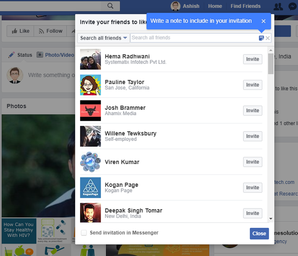 How to invite all my friends on Facebook to like a page Quora