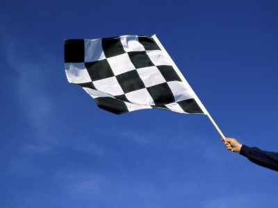 why is the flag at the finish line in f1 racing black and white quora