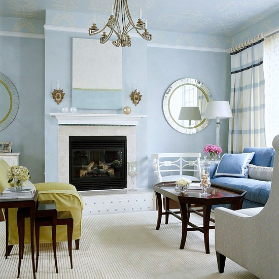 Some Simple Decoration Ideas For Living Room: 1. Set The Mood With Color