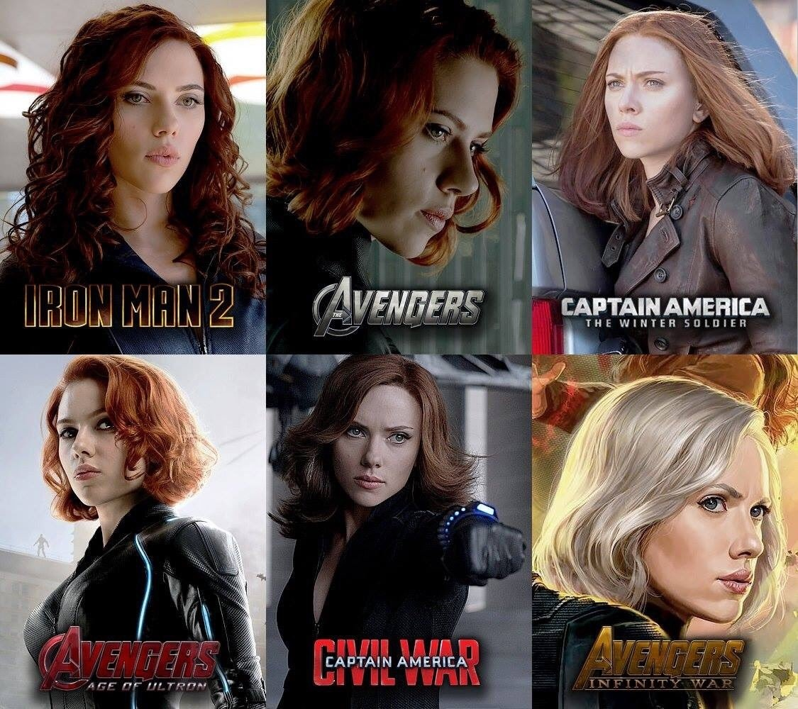 How Come Black Widow Has Different Hair In Avengers