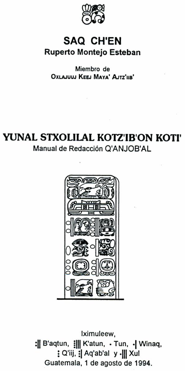 Does anyone still write modern Mayan languages with Maya