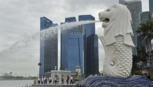 Heres A Picture Of Merlion Statue In Park Singapore