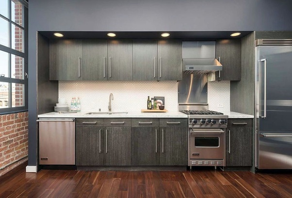 If You Have Grey Walls In The Kitchen What Color Should You Paint Your Kitchen Cabinets Quora