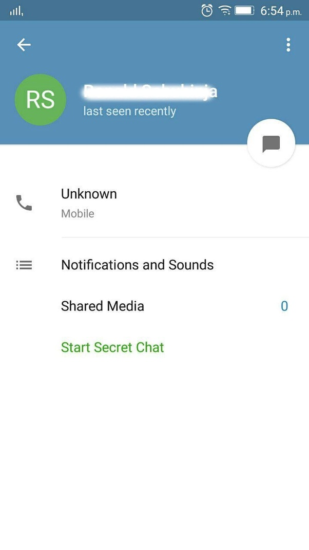 How I set a telegram in order to not show others my phone