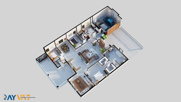 For More Portfolio Of 3D Floor Plans, Visit At  Https://www.rayvatengineering.co.