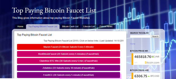 Which is the highest paying bitcoin faucet? - Quora