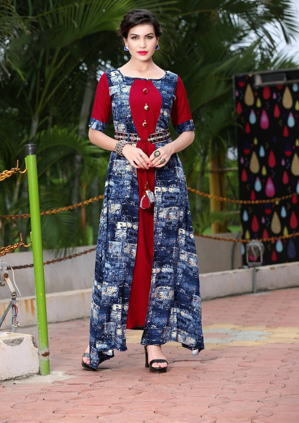 04ae3f467d ... thread works, size and shape, and contemporary designs and combination  of two fabrics and also the stunning fusion of Indian plus western culture.