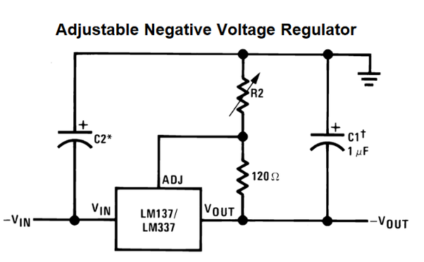 what is meant by negative voltage regulation