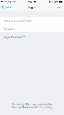 What do you do if you forgot your kik password