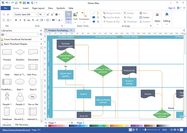 Many friends told me that visio can convert a flowchart to pdf but when you finish drawing with another button click you can save the file as pdf format ccuart Choice Image