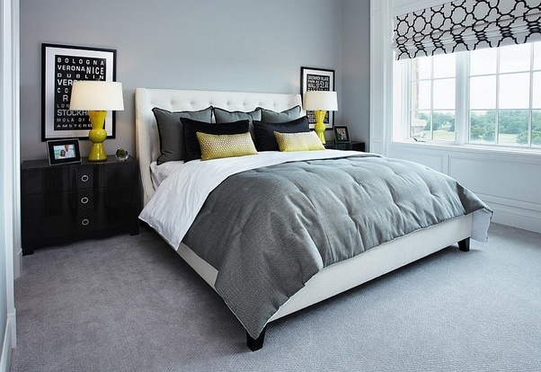 Although gray is often considered to be a modern color, it will add a traditional sense of comfort and harmony to your existing gray carpet and black ...