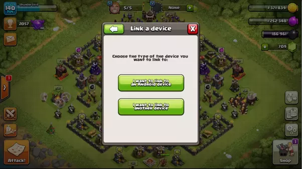 how to delete clash of clans account android