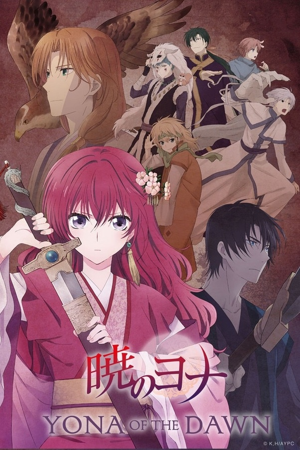 This anime fits the best for your category of Romance and Action. It's  about Yona, a 'red haired' princess who learns the harsh truth of poverty &  other low ...