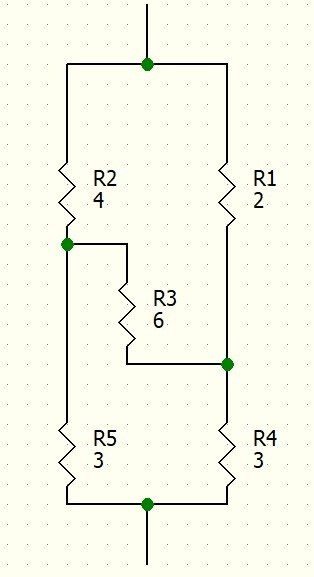 how can the equivalent resistance of the following circuit