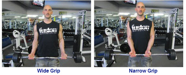 If You Want To Work On The Outside Of Bicep Use A Narrow Grip And Inside Wide So Wver Your Gaol Is