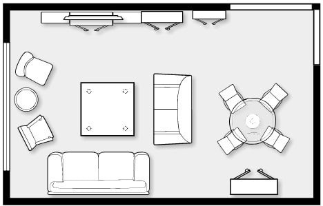 Average Size Of A Living Room