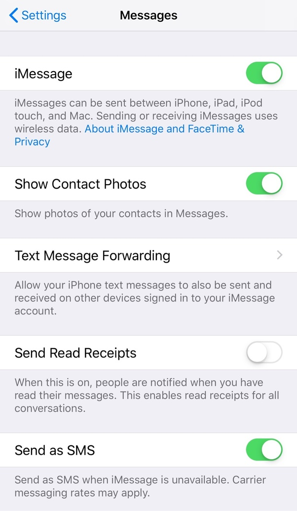 When a message on your iPhone reads delivered, does that