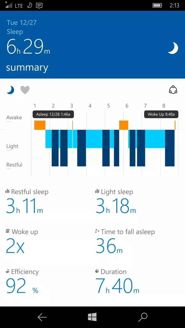 my fitbit tracker shows that my sleep is terrible and i m freaking
