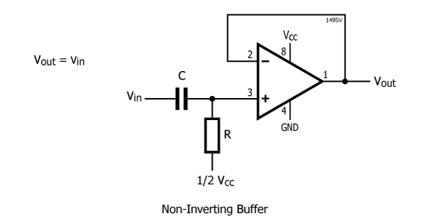 how does a non inverting amplifier can be converted into a voltage