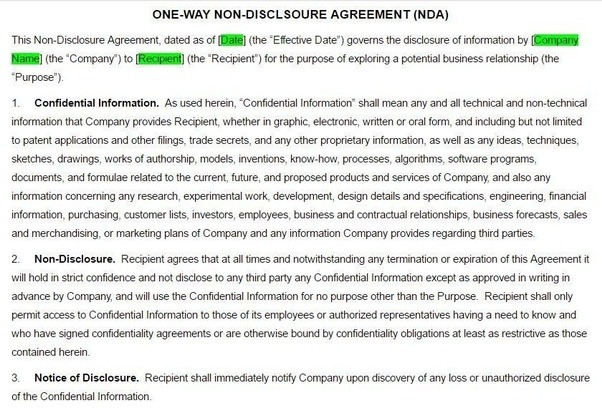 Non Disclosure Agreements What Are The Rules And Practice Around
