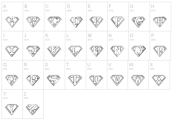 How to draw the superman symbol with letters other than s quora you can use a font like this for reference voltagebd Image collections