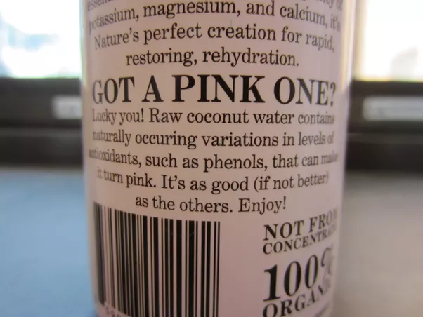 Why did my coconut water turn pink? - Quora