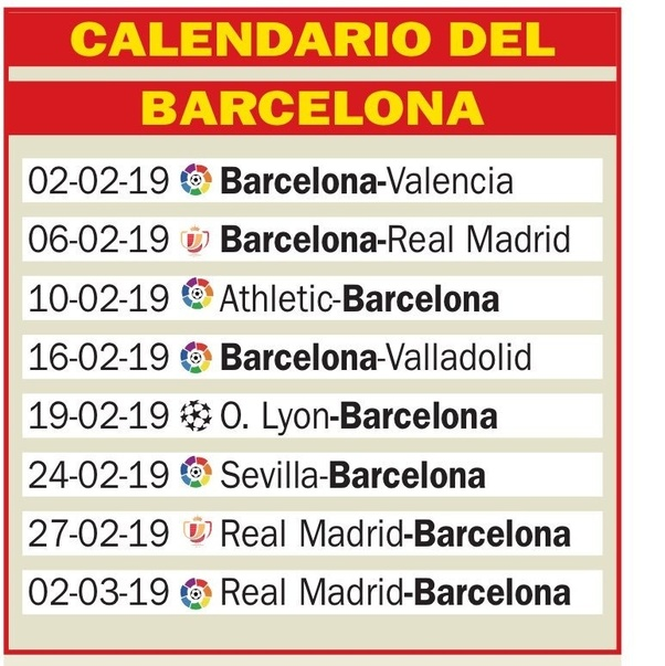 Calendario Real Madrid 2019.How To Think Barcelona Should Rotate The Squad In The Upcoming