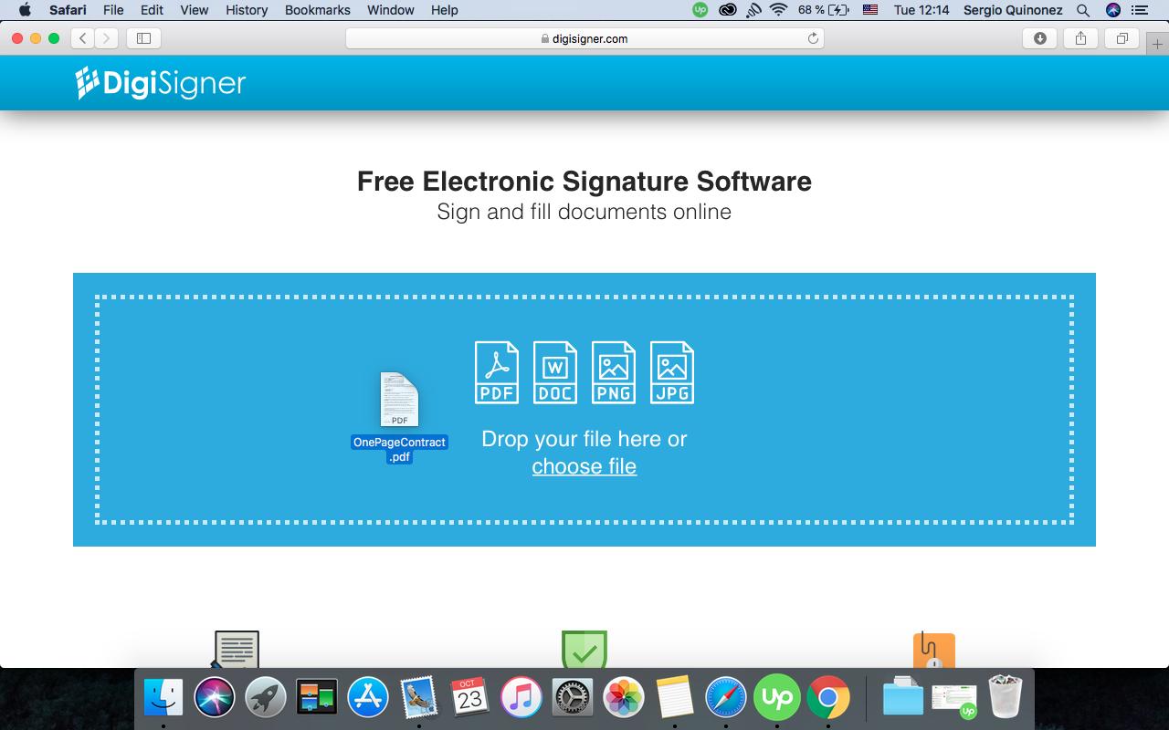 electronic signing pdf free