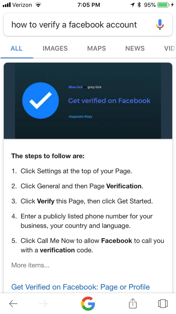 How to verify my Facebook account and send the code to my