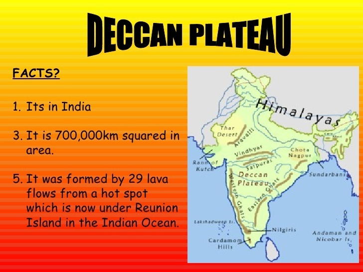 How was the Deccan Plateau formed? - Quora