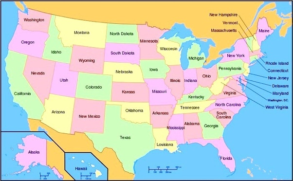 Map Of North America 50 States.What Is America What Is North America And South America What Is