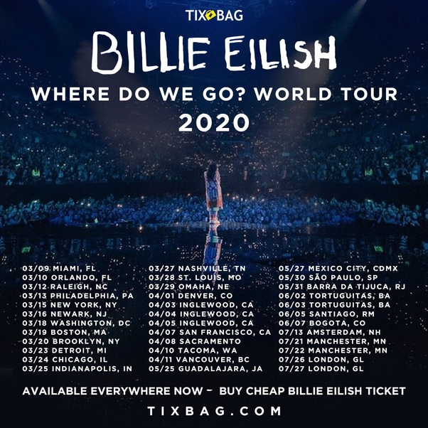 Concert Tour: When And Where Will Billie Eilish Tour In 2019-2020?