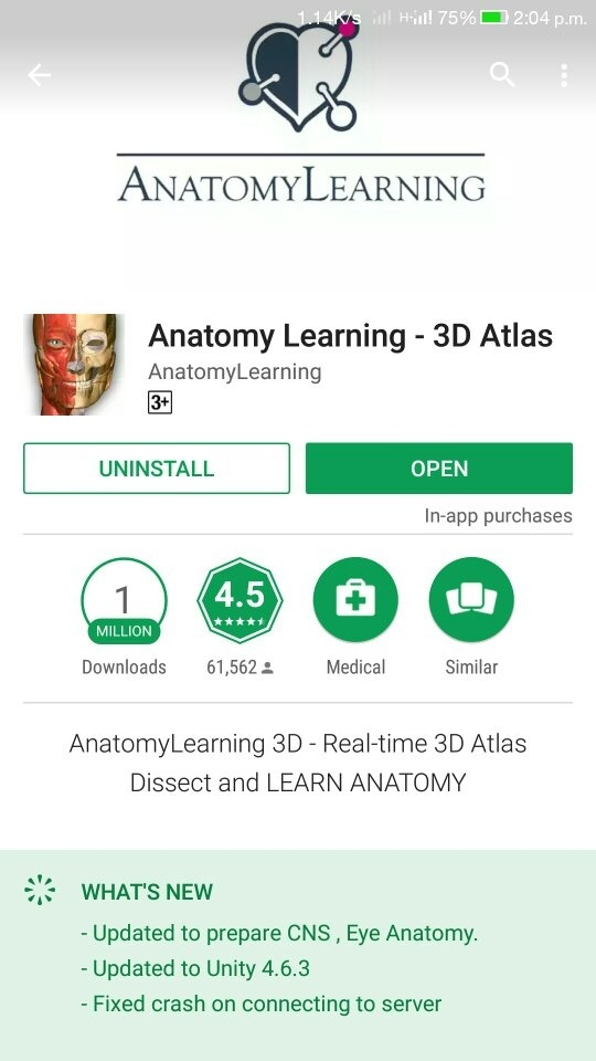 Which app is the best for studying anatomy in 3D for a 1st year MBBS ...