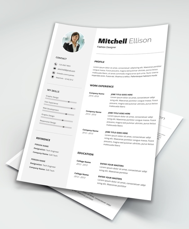 Best Free Resume Template MS Word PDF : Download