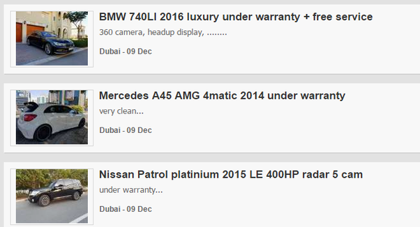 What are the best cars to buy in Dubai? - Quora
