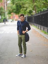 My Personal Pick Navy Blue Shirt With Army Green Pants