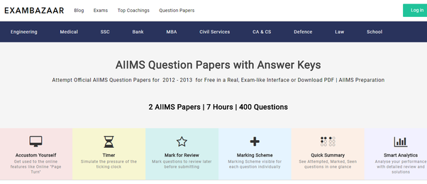 where can i get aiims mbbs previous year question paper quora
