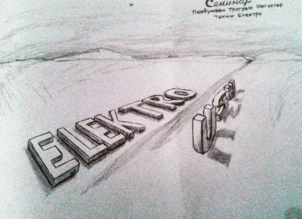 This my first 3d letters in perspective