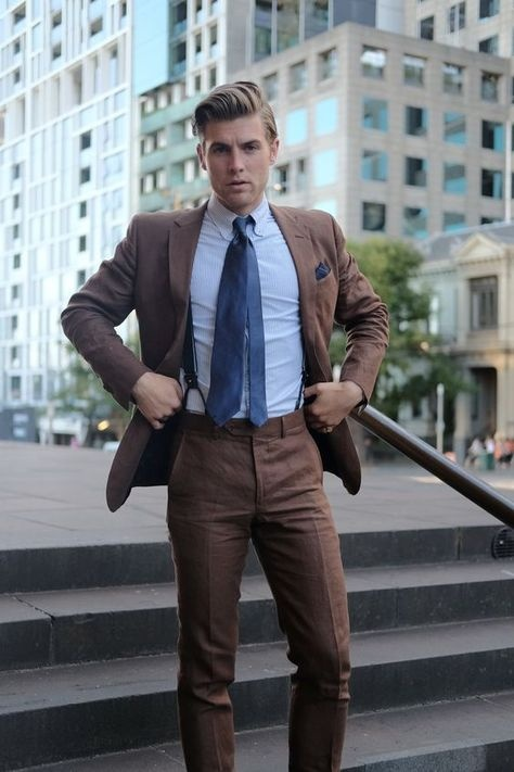 What Is The Best Shirt And Tie Combo For A Brown Suit Quora