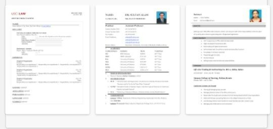 what is a good biodata sample format for students