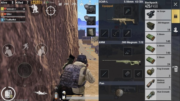 How to remove my bag/backpack on PUBG mobile especially in