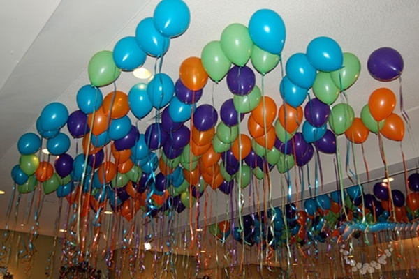 What are some of the pretty balloon decoration ideas quora for Balloon string decorations