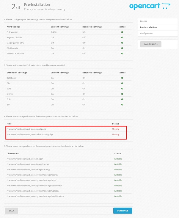How to add an opencart theme in a local host quora in the below screen shot opencart is looking for configp filewe need to rename default config distp to configp under store root folder admin maxwellsz