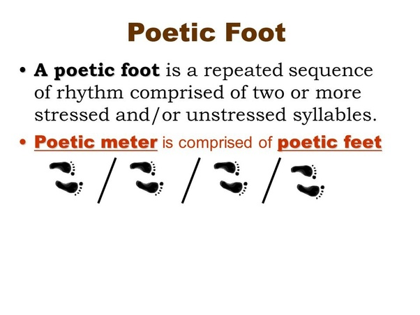 What Is A Foot In Poetry And What Are Some Examples Quora