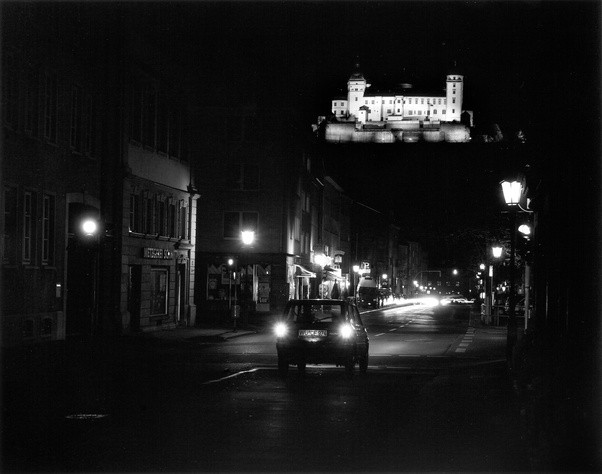 Black And White Film Photography At Night