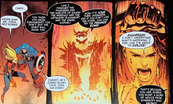 If Ghost Rider went after the Avengers and fought them, how would