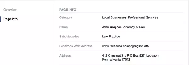 how to change address business page facebook