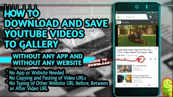 How to download youtube videos without any website or app using my i found a cool way we can download youtube videos using firefox add on watch this video how to downloadsave youtube videos to gallery without any app and ccuart Choice Image